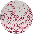 rug #1097034 | round red damask rug