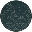 rug #1097046 | round blue-green traditional rug