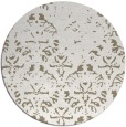 rug #1097074 | round mid-brown damask rug