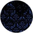 rug #1097114 | round black faded rug