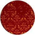 rug #1097118 | round orange traditional rug