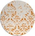 rug #1097122 | round orange damask rug