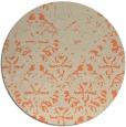 rug #1097126 | round beige damask rug