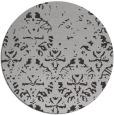 rug #1097130 | round red-orange damask rug