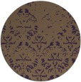 rug #1097158 | round purple faded rug