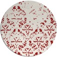 rug #1097174 | round red popular rug