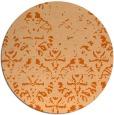 rug #1097186 | round red-orange damask rug