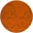 rug #1097190 | round red-orange traditional rug