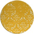 rug #1097230 | round yellow faded rug