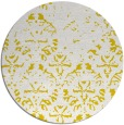 rug #1097238 | round yellow traditional rug
