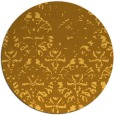 rug #1097242 | round light-orange damask rug