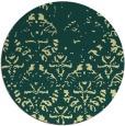 rug #1097246 | round yellow damask rug