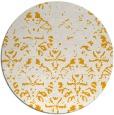 rug #1097266 | round light-orange faded rug