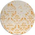 rug #1097278 | round light-orange faded rug