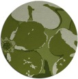 rug #109765 | round green rug