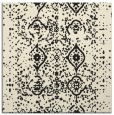 rug #1097674 | square black damask rug