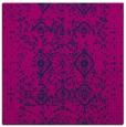rug #1097686 | square blue damask rug