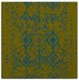 rug #1097730 | square green damask rug
