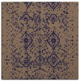 rug #1097758 | square blue-violet damask rug