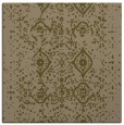 rug #1097766 | square mid-brown damask rug