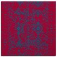 rug #1097774   square blue-green damask rug