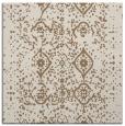 rug #1097806 | square mid-brown damask rug