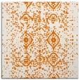 rug #1097858 | square orange damask rug