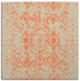 rug #1097862 | square orange damask rug