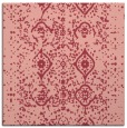 rug #1097878 | square pink damask rug