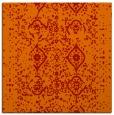 rug #1097906 | square red damask rug