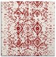 rug #1097910 | square red damask rug