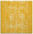 rug #1097966 | square yellow damask rug