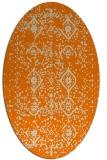 rug #1098018   oval orange faded rug