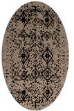 rug #1098030 | oval beige damask rug