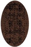 rug #1098034 | oval brown damask rug