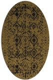 rug #1098038 | oval black traditional rug