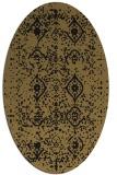 rug #1098046   oval brown damask rug