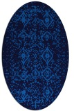 rug #1098050 | oval blue faded rug