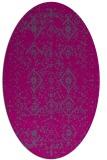 rug #1098056   oval faded rug