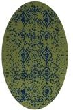 rug #1098062 | oval blue rug