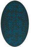rug #1098086 | oval blue faded rug