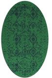 rug #1098089 | oval faded rug