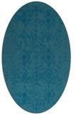 rug #1098092 | oval faded rug