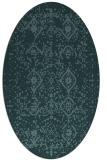 rug #1098094 | oval blue-green popular rug