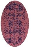 rug #1098114 | oval blue-violet traditional rug
