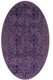 rug #1098118 | oval purple faded rug