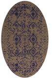 rug #1098126 | oval beige damask rug