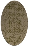 rug #1098134 | oval mid-brown faded rug