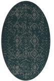 rug #1098150 | oval green damask rug