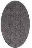 rug #1098170 | oval brown damask rug
